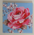 Ceramic Wall Tiles Made With Blue Classic Rose by Cath Kidston